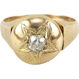 Antique 14k Rose Gold Diamond Ring