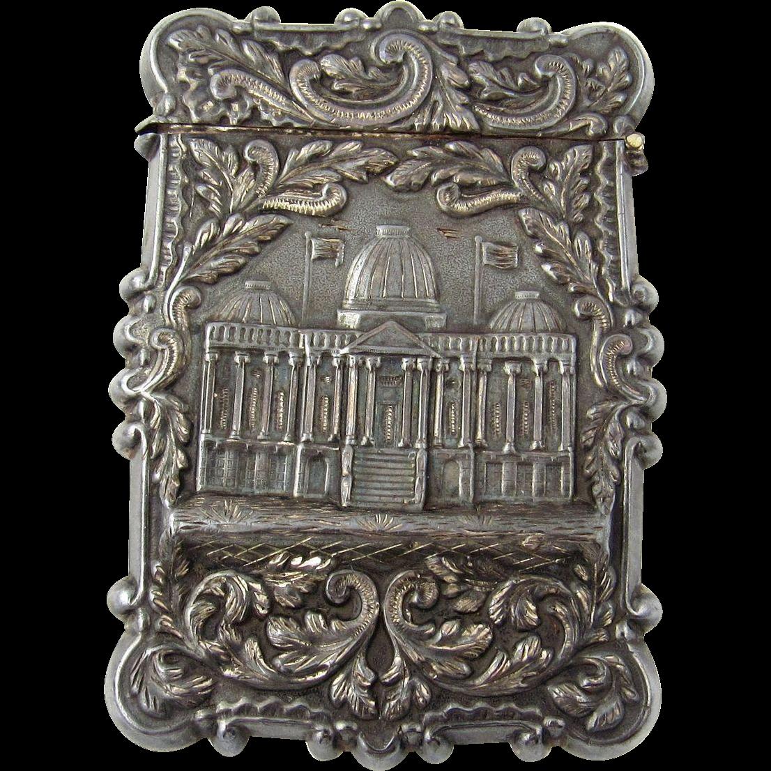 American Castle Top Coin Silver Calling Card Case Leonard & Wilson ...