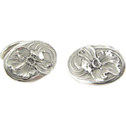 Antique Art Nouveau Unger Brothers Sterling Silver Cufflinks