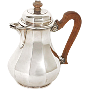 Antique french sterling silver solitaire coffee pot, signed Puiforcat, 19th
