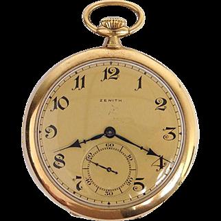 Zenith watch, 18K yellow gold, 20th