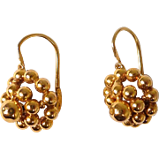 French 18K gold earrings, 2,27 gr, 20th century