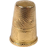Antique french 18K gold thimble, era Napoleon III 19th century