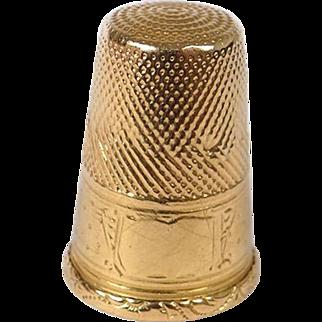 Antique french 18K gold thimble, era Napoleon III 19th century