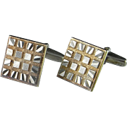 Optical Illusions in Gold Unique Silver Cufflinks MidCentury Modernist Men's Cufflinks One of a Kind Cufflinks Unusual Cuff Links Cufflinks