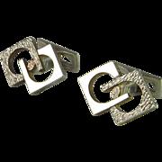 Modernist Men's Unique Vintage Cufflinks Mid Century Cufflinks Sterling CuffLinks Silver 1950s Cuff Links