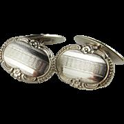 Rare Art Deco 1920s Cufflinks Unusual Unique One of a Kind Cufflinks 1930s Cufflinks Cuff Links 800 Silver Antique Cuff Links Jewelry