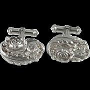 Rare Floral Designer Cufflinks Mid Century Cufflinks Classic Cufflinks Vintage Cufflinks Sterling Silver Cuff Links Cufflinks