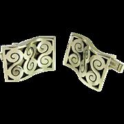 Unique Cufflinks Modernist Cufflinks Vintage Cufflinks Vintage Cuff Links Mens Cufflinks Mens Cuff Links Handmade Sterling Silver