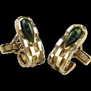 Gold Cufflinks Gold Cuff Links Gold Plated Sterling Cufflinks Mens Cufflinks Silver Cuff Links Vintage Cufflinks Modernist Cufflinks