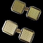 Antique Solid Gold Cufflinks 1920s 1930s Art Deco Gold Cufflinks Classic Antique Hallmarked English Men's Cufflinks Unique One of a Kind Cuff Links Wedding Cufflinks Estate Jewelry