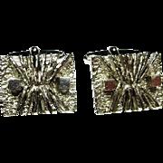 Sunrays on Mercury Fine Retro Mid Century Fine 835 Silver Hand Crafted Cuff Links Cufflinks Silver Sculptural Modernist Cuff Links