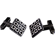 Classic Stylish Geometric Timeless Mid Century Modernist Hand Made Sterling Silver Fine Rare Vintage Cuff Links Cufflinks