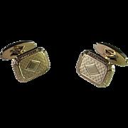 Art Deco Men's Gold Cufflinks Solid 10K Gold Hand Made 1920s 1930s Cuff Links Fine Cufflinks