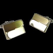 Unique Silver Cufflinks Mid Century Men's Cufflinks Modernist Cufflinks One of a Kind Cufflinks Unusual Cuff Links Gold Silver Cufflinks
