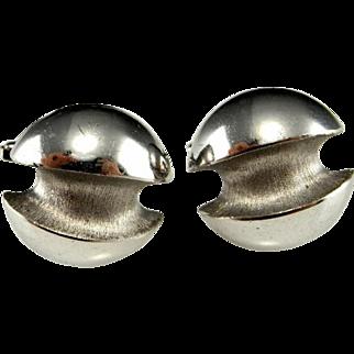 Scandinavian Modernist Silver Cufflinks Cuff Links in Fine 835 Silver 1960s 1970s Men's Cufflinks  Retro Estate Cuff Links