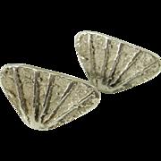 Organic Fine Men's Vintage Cuff Links Sterling Silver Cufflinks Minimalist Jewelry Mens Jewelry Modernist Cuff Links Wedding Cufflinks