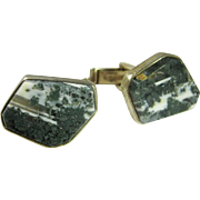 Moss Agate Cuff Links Vintage Cuff Links Modernist Cufflinks Vintage Cufflinks Vintage Cuff Links Mens Cufflinks Mens Cuff Links Handmade Fine Modernist Jewelry 1950s Silver Mens Accessories Gemstone Cuff Links Mid Century 1960s 1970s Jewelry