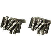 Blue Poles Unique Cufflinks Mens Cuff Links Mens Cufflinks Wedding Cufflinks Mid Century Jewelry Modernist Jewelry Minimalist Jewelry