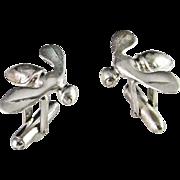 Bee 925 Cufflinks Vintage Cufflinks Modernist Sterling Cufflinks Fly Cufflinks