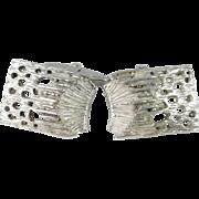 Groovy Men's Unique One of a Kind Cufflinks Mid Century Cufflinks Modernist Cuff Links European Silver 835 Classic Cufflinks