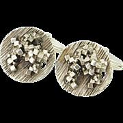 Cubist Fine Men's Vintage Cuff Links Sterling Silver Cufflinks Minimalist Mens Jewelry Modernist Cuff Links Wedding Cufflinks Unique