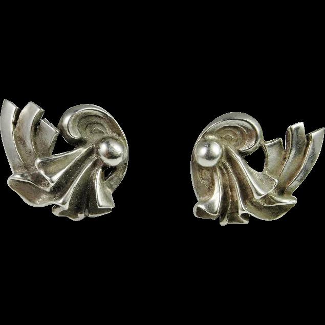 great gatsby silver earrings 925 sterling screw on screw