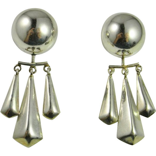 Mexican chandelier earrings beautify themselves with earrings mexican chandelier silver earrings sterling silver 925 handmade from view full size mozeypictures Images
