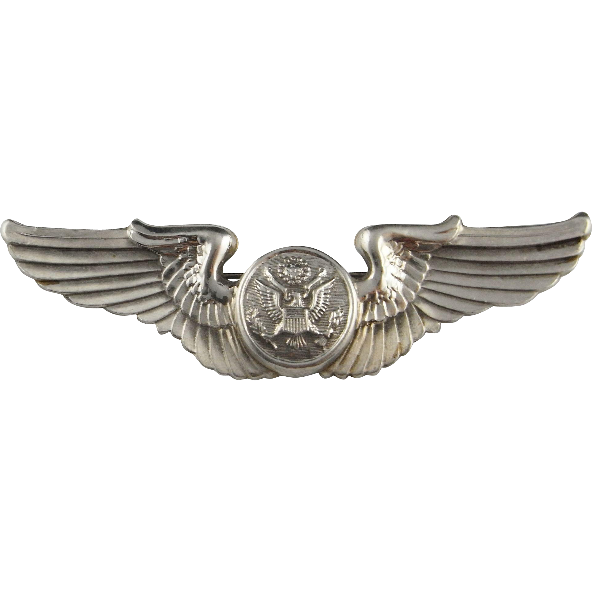 Pilots Wings Sterling Silver Pin Brooch Art Deco 925 Air