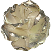 Rose Sterling Silver Pin Pendant 925 Flower Floral Bouquet Wedding Bridal Pretty Statement Custom Hand Made Vintage Peony Daisy Mid Century 1950s 1960s 1970s Unique One of a Kind