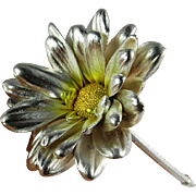 Silver Decor Ornament Sterling Silver Accessory Womens Accessories Hair Ornaments Wedding Jewelry Wedding Gifts Wedding Present 925 Daisy Silver Hair Pin Comb Clip Barette Barrette Table Decoration