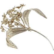 1920s Jewelry Filigree Brooch Sterling Silver Brooch Handmade Brooch Wedding Jewelry Floral Brooch Bouquet Jewelry Corsage Pins 1940s Retro