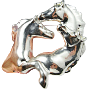 Horse Brooch Horse Jewelry Statement Jewelry Electroform Electroformed Jewelry Animal Brooch Large Brooches Animal Jewelry Sterling Silver Equine