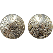 Hopi Earrings Hopi Jewelry Native American Earrings Native American Jewelry Old Pawn Earrings American Indian Earrings Sterling Silver 925