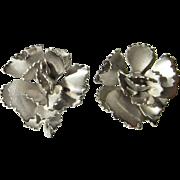 Art Deco Earrings Sterling Silver Earrings Vintage Screw Back Earrings Rose Earrings Flower Earrings Pretty Earrings Dainty Earrings Downton Abbey Jewelry Great gatsby Weding Jewelry Bridal Jewelry
