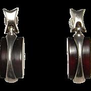 Baltic Amber Earrings Drop Earrings Dangle Earrings Dainty Earrings Delicate Earrings Artisan Earrings 1970s Jewelry Sterling Silver 925