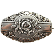Antique Rose Brooch Art Nouveau Brooch Belle Epoque Jugendstil Small Brooch Pretty Jewelry Dainty Jewelry Antique Jewelry 800 Silver