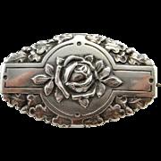 Antique Rose Brooch Art Nouveau Brooch Belle Epoque Jugendstil Small Brooch Pretty Jewelry Dainty Jewelry Antique Jewelry 800 Silver