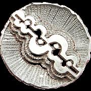 Geometric Brooch 1970s Jewelry 1960s Jewelry Modernist Jewelry Modernist Brooch Mid Century Jewelry Mid Century Brooch Space Jewelry Silver Unisex Statement Circle Sculptural 70s 60s
