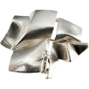 Finnish Jewelry Lapponia Modernist Jewelry Sterling Silver Statement Piece Mid Century Jewelry Scandinavian Jewelry 1980s Jewelry Silver Pin Bjorn Weckstrom
