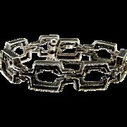 Artisan Bracelet Geometric Bracelet Modernist Jewelry Unisex Bracelet 1970s Jewelry 1960s Jewelry Sterling Silver Bracelet Minimalist  Mid Century Space Age Atomic Artisan