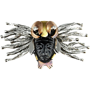 Aztec Pendant Aztec Jewelry Surrealist Onyx Brooch Statement Brooch Butterfly Brooch Pin Onyx Cameo Butterfly Pendant Necklace Sterling 925