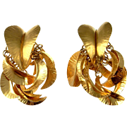 Statement Earrings Chunky Earrings Huge Earrings Large Earrings Big Earrings Artisan Earrings Clip On Earrings Ear Clips Sterling Silver 925 Boho Retro Bohemian Studio Big Gold Earrings Ethnic