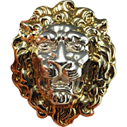Lion Pin Lion Brooch Lion Pendant Lion Jewelry Cat Pin Cat Brooch Cat Pendant Cat Jewelry Statement Jewelry Large Brooches Animal Brooch 925