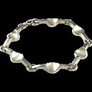 Minimalist Bracelet Jewelry Unisex Bracelet Jewelry Modernist Bracelet Star Trek Space Age Mid Century Bracelet Jewelry Silver Link Bangle 1950s 1960s 1970s 50s 60s 70s Geometric Link Boho Bohemian Delicate Dainty Artisan