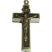 Vintage German Cross with Relic Inside Pendant S.Crescentia