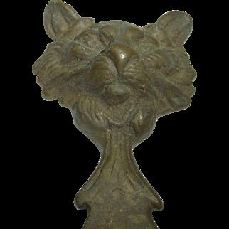 Vintage German Brass Bottle Opener Cat Head