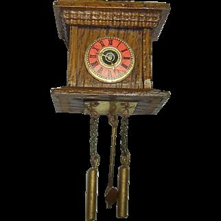 Vintage German Doll Miniature Clock Dollhouse