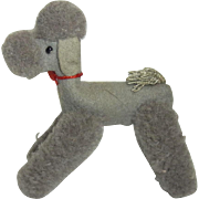 Vintage German Stuffed Animal Steiff Poodle Dog Doll Accessory