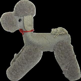Vintage German Stuffed Animal Steiff Poodle Dog Doll Accessory